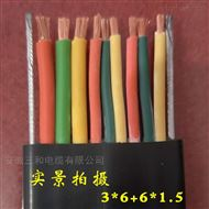 聚乙烯10KV电力传输ZR-YFGVRP高压扁电缆
