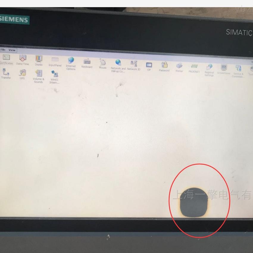 西门子多功能面板MP377黑屏故障维修