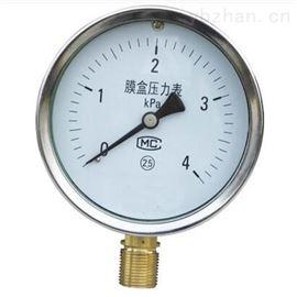 径向耐震膜盒压力表