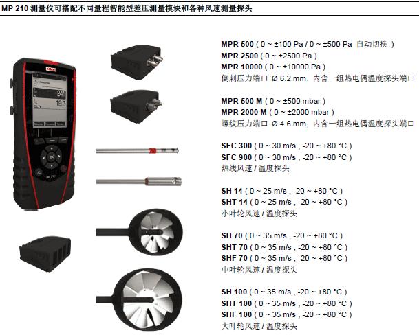 MP210多功能手持差压风量风速仪