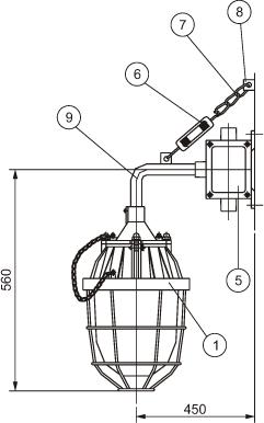 BAD54(BCD)系列隔爆型防爆灯