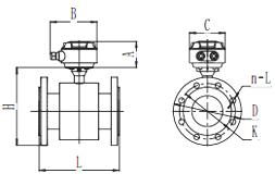 智能电磁流量计产品外形尺寸