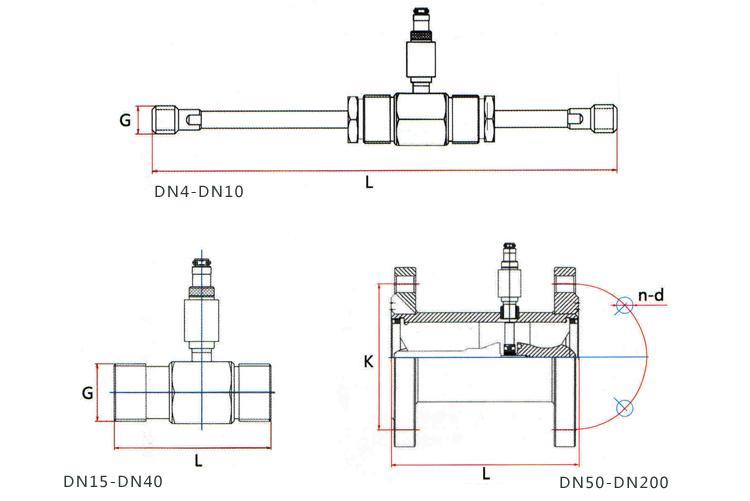 分体式液体涡轮流量计外形尺寸图