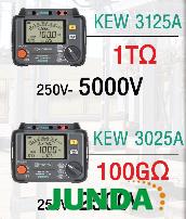 KEW3125A高压绝缘电阻计
