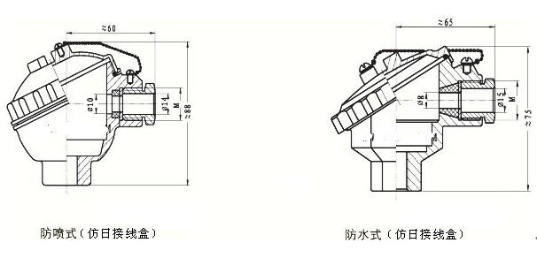 K型熱電偶接線盒