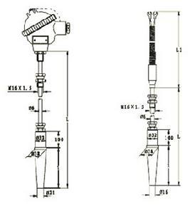 炉顶热电偶结构图