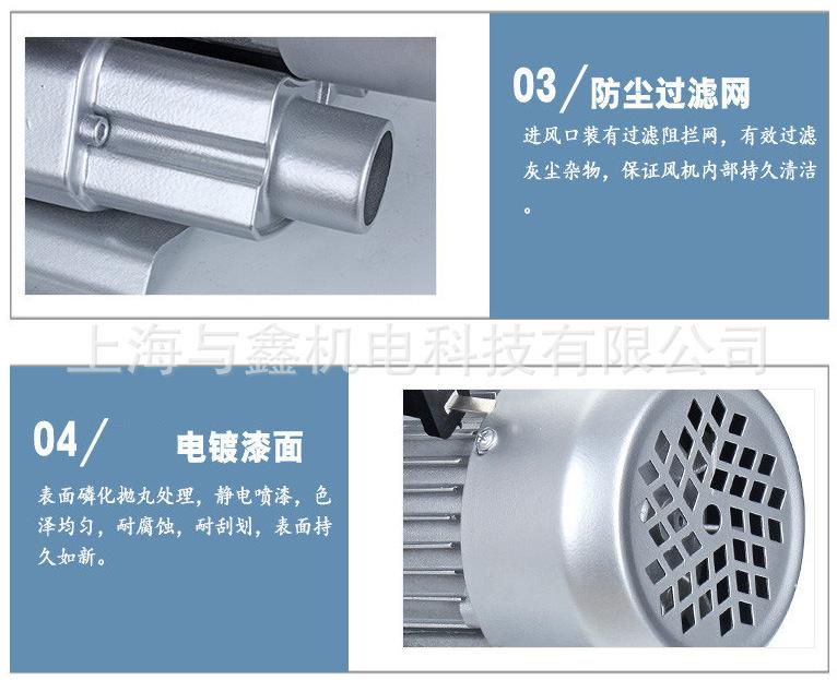 全风 PF1502直叶鼓风机 1.5kw吹吸两用风机 耐腐蚀耐高温可定制风机 隔热风机示例图11