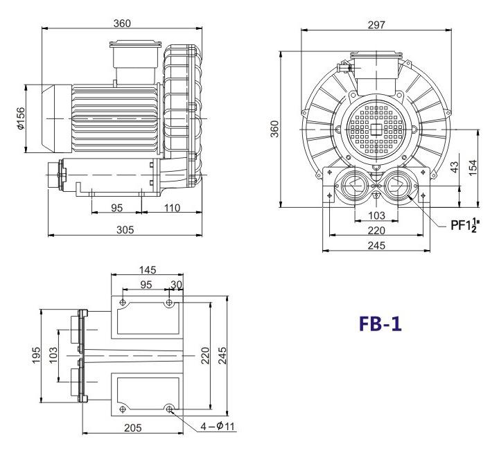 秦皇岛船用防爆高压风机 FB-25船用防爆高压风机 厂家防爆风机示例图13